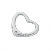 9ct white Gold 0.07ct Diamond set heart pendant